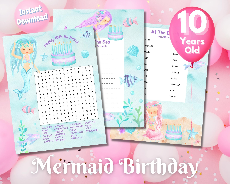 Mermaid Birthday Party Puzzles