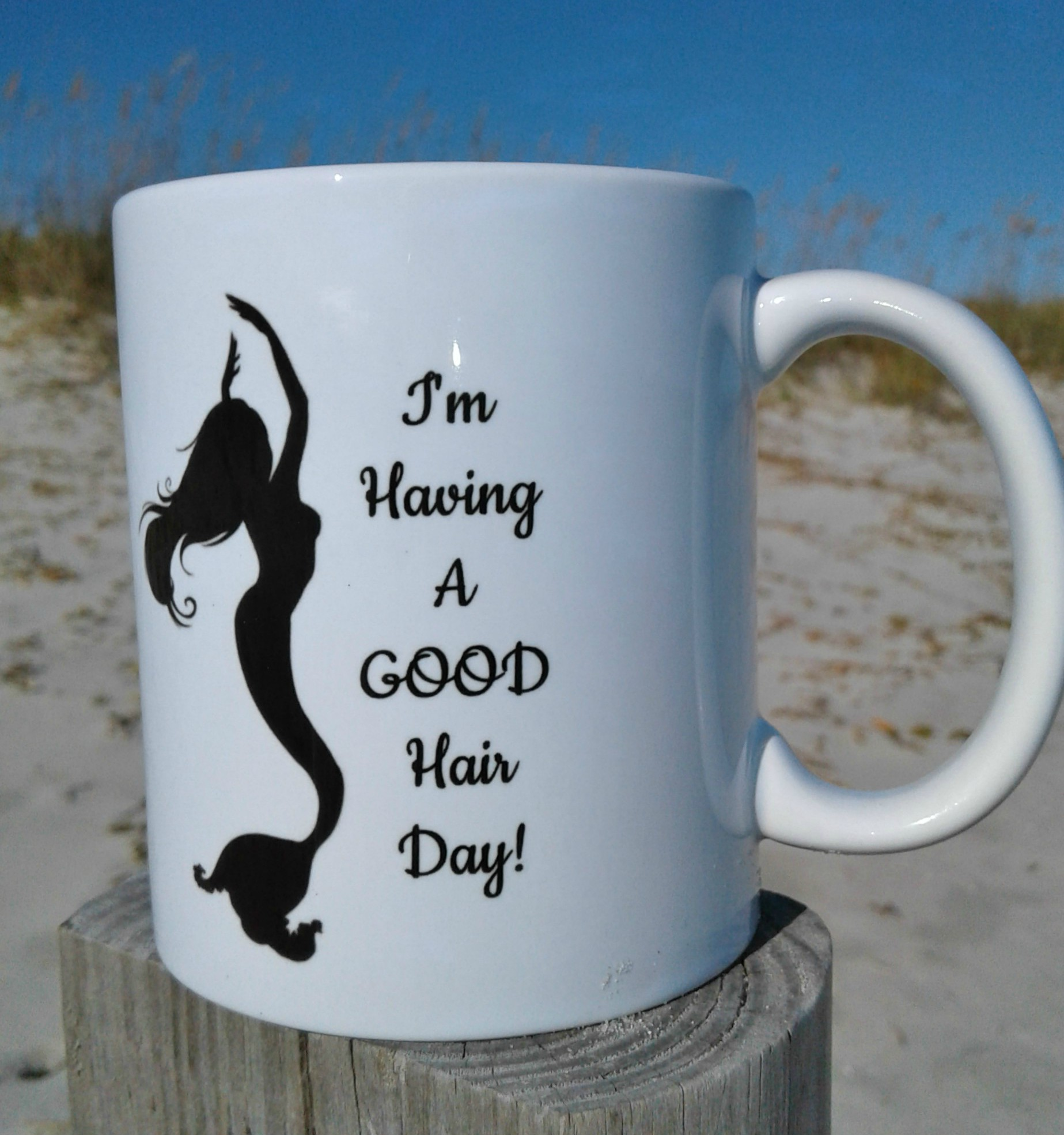 Good/Bad Hair Day Mermaid Mug