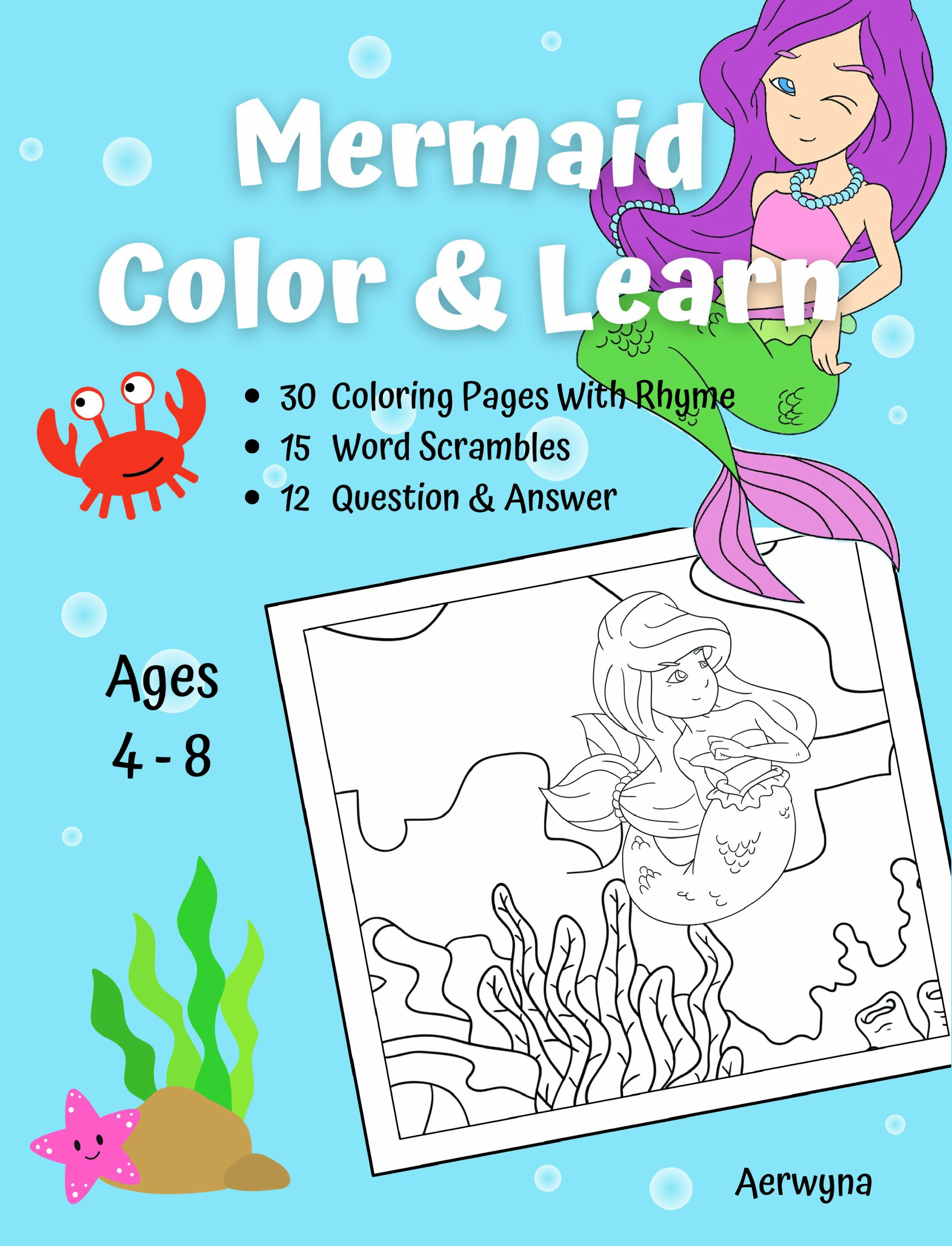 Mermaid Color & Learn