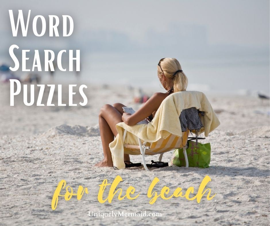 Word Search Book For The Beach