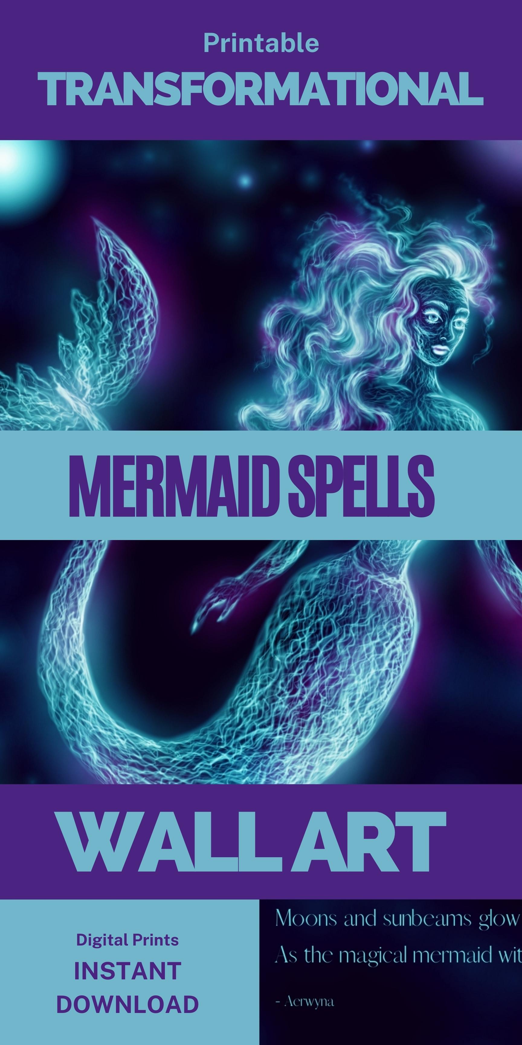 Mermaid Transformation Spell Wall Art